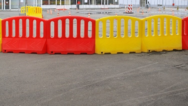 What is a water-filled barrier?